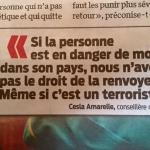 Suisse : Pour Cesla Amarelle, la sécurité des terroristes est plus importante que celle des Suisses ?