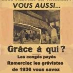 L'image du jour : Les congés payés, merci aux grévistes de 1936.  Bientôt un lointain souvenir ?