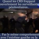 France : Quand les CRS frappent ouvertement les surveillants pénitentiaires