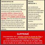 Politique : Les crimes de haute trahison et de complot contre la sûreté de l'État retirés de la constitution Française en catimini