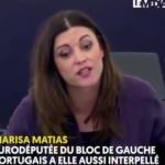 """""""VOTRE CONCEPTION DE LA DÉMOCRATIE EST NAPOLÉONIENNE"""" Marisa Matias, Eurodéputée du bloc de gauche portugais a interpellé Emmanuel Macron au Parlement Européen"""