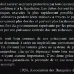 L'image du jour :Citation de l'Association des Banquiers des États-Unis en 1924