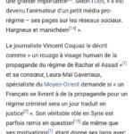 Syrie, Pierre Le Corf : Je vais être transparent puisque leur objectif est de purement me descendre et que je n'ai rien à cacher, vous vous ferez votre propre opinion