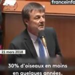 Nicolas Hulot face à l'Assemblée nationale peu de temps avant sa démission