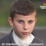 """Le message d'un enfant de 11 ans à Monsanto : """"Arrêtez de vendre ça. Regardez ce que ça m'a fait !"""""""