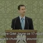 Hoax : Bachar el Assad soutient le mouvement français des gilets jaunes