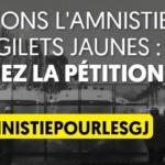 Gilets jaunes : Signez la pétition pour une amnistie