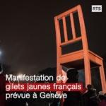 Des centaines de Gilets jaunes manifestent devant le siège européen des Nations Unies à Genève