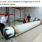Humour & Image du jour : Le mégot de Notre-Dame