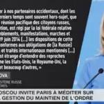 Paris donne des leçons à Moscou sur la manière de gérer les manifestations. C'est l'hôpital qui se fout de la charité