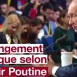 Vladimir Poutine sur le réchauffement climatique