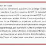 MÉDIAS : Wikipedia lance un appel aux dons