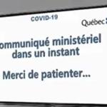 """Québec, Communiqué ministériel : """"La fin du temps est proche"""""""