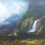 """Une belle image de carte postale : Suisse, canton du Valais, """"La pisse vache"""""""