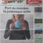 Port du masque : La polémique enfle /  Wearing a mask: The controversy swells