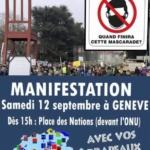 Genève, Manifestation contre le port du masque obligatoire