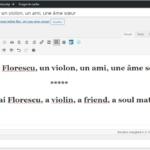 Rares Mihai Florescu, un violon, un ami, une âme sœur