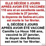 Covid – 19 et vaccins : Les décès se suivent et se succèdent /  Covid – 19 and vaccine s: Deaths follow one another